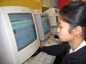 picture of student at computer